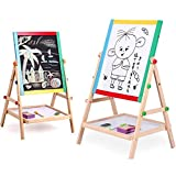 R H lifestyle Magnetic Black and White Board Double Sided Wooden Kids Drawing