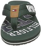 Tommy Hilfiger Herren Essential TH Beach Sandal Zehentrenner, Grün (Jungle Green 300), 43 EU - 4