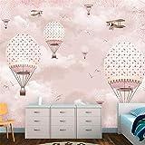 Mrlwy benutzerdefinierte tapete 3d foto mural cartoon heißluftballon...