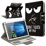 Robuste Schutzhülle für Ihr Archos Access 101 3G Tablet aus Kunstleder mit Standfunktion 360° Drehbar Hülle Schutztasche Ständer Tasche Cover Case Etui, Farbe:Motiv 4