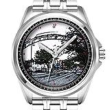 personnalisé Montre Homme Mode Montre étanche Montre-Bracelet Diamant 310. City Street Arches Digital d'encre Dessin