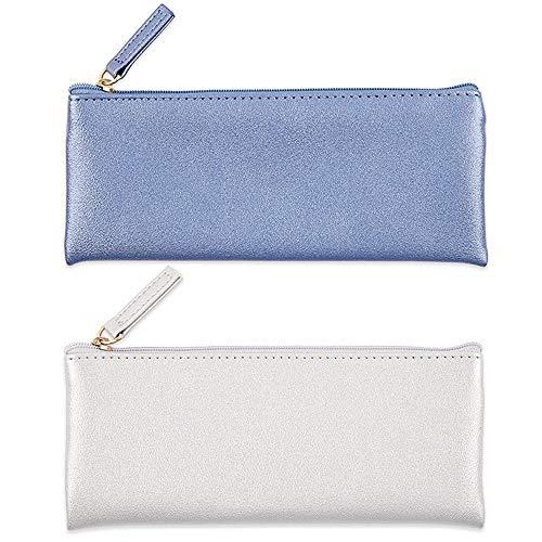 cy3lf PU Leder Mäppchen Tasche Tasche mit Reißverschluss, Simple Bleistift Beutel, Make-up-Tasche,...