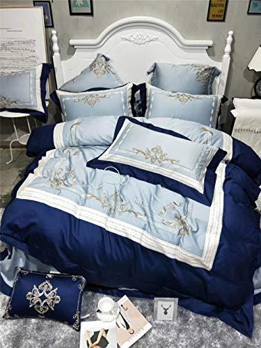 Wenhu Luxus 100% ägyptischer Baumwolle Bettwäsche Set Kingsize Designer Bettwäsche Bettwäsche Queen Bettbezug Set ägyptischer Baumwolle Bettlaken,B,Queen4PC