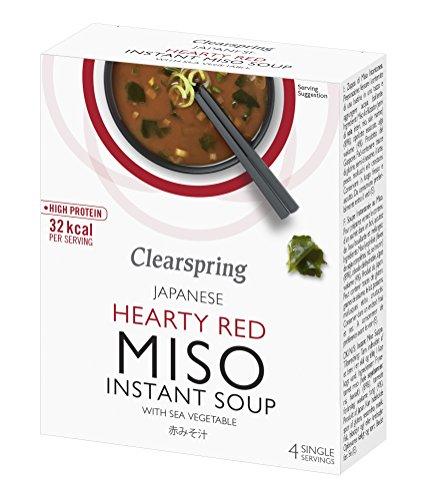 Clearspring Miso Rosso Zuppa Di Verdure E Mare 4 X 10g (Confezione da 6)
