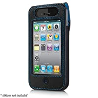Belkin Verve Leather Case with Durable Protection for iPhone 4G - Black/Blue