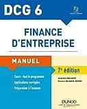 DCG 6 - Finance d'entreprise - 7e éd. - Manuel