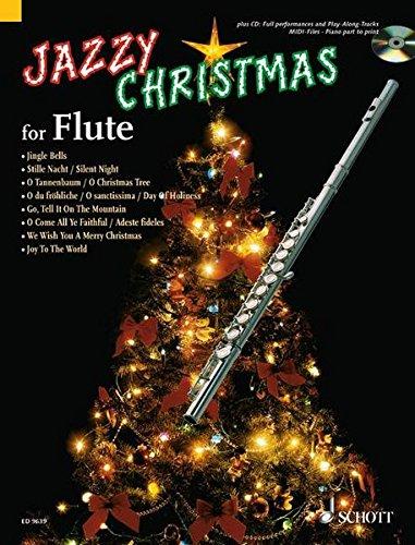 Jazzy Christmas for Flute: Flöte; Klavier ad libitum. Ausgabe mit CD. - Für Flöte Anfänger-musik-bücher