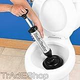 TrAdE shop Traesio Abflussreinigung Abflüsse und WC A Pumpe manuell Rohrreinigungsgerät A Druck Drain Buster