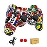 dainslef PS3 controller Wireless Bluetooth Double Shock Sixaxis Remote Gamepad for Sony PS3 PlayStation 3-Street Graffiti 3-5 years old Gift from dainslef
