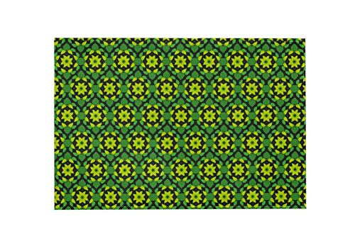 Floral Design Green Z094 Large Area Rugs,Dirty Children's Carpets for Living Roooms,Bedrooms,Children's Doormats 183x122cm/72x48in - 24 Läufer 72 Teppich