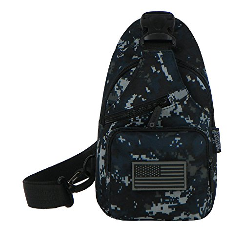 East West USA rtc528 Tactical Camouflage Military Sling Brust Utility Pack Tasche, Navy Camo - Navy Brust