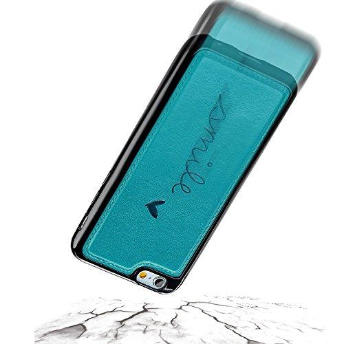 iPhone 8 Plus Lederhülle, iPhone 7 Plus Ledertasche,Vandot Abnehmbare Magnet Flip Case Ledertasche Schutzhülle für iPhone 8 Plus/iPhone 7+ Plus Detachable Leder Huelle Stand Halter Magnetverschluss Kr Abnehmbare Blau