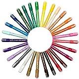 Art Accelerators Vernice acrilica Value Pack Marcatori - 28 colori Marker Set per Metal, Rock, legno, vetro e pittura plastica. Bonus sacchetto di immagazzinaggio incluso. Non tossico Penne