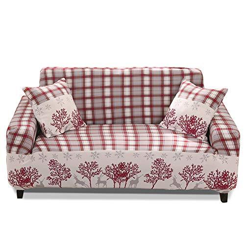 Hotniu copridivano elasticizzato, fodere copridivani universale, sofa mobili protettore copertura divano antiscivolo, ideale per poltrone, divani a 2/3/4 posti, floreale #26/3 posti