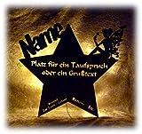 Schlummerlicht24 Led Nachtlicht Baby-Lampe Fee Stern Baby-Geschenke zur Taufe mit Namen Tauf-spruch Gravur personalisiert Geburt-sgeschenke Taufgeschenke für Junge-n Mädchen Paten-Kind Mutter Zimmer