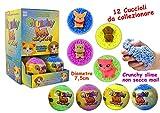 Bravo Spiele–Crunchy Pets Surprise, Farbe Blau, Gelb, Grün, Violett, 26813