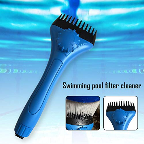 SunniY Swimming-Pool Filterkartusche Reiniger Spa Filter Clean Bürste Debris Schmutz Haarentferner Heavy Duty Effective Filter Comb Hand Typ Reinigungswerkzeug -