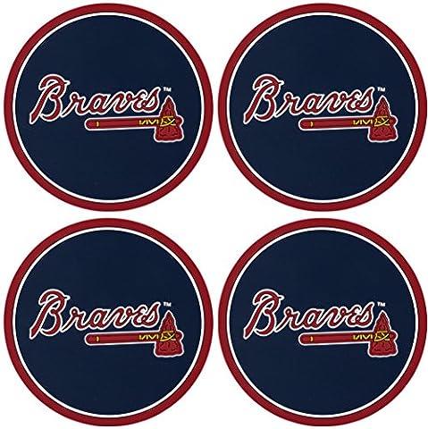 MLB Lot de 4sous-verres, femme, Atlanta Braves
