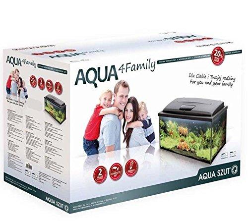 AquaSzut Aquarium Aqua4Family 80er Komplett Set Glasaquarium 112 Liter 80x35x40 cm
