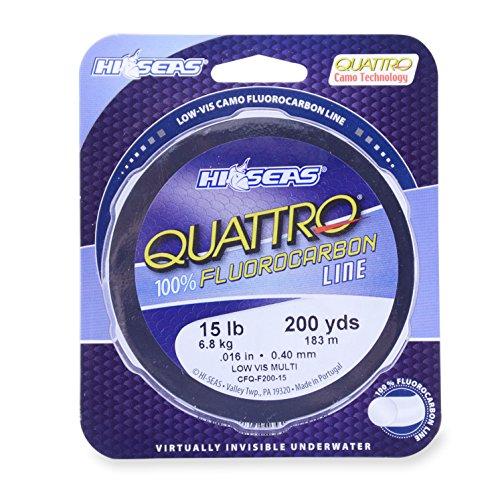 Hi-Saw Quattro 100% Fluorocarbon Schnur, Camouflage, 1000 Yard, 8 Pound Test -
