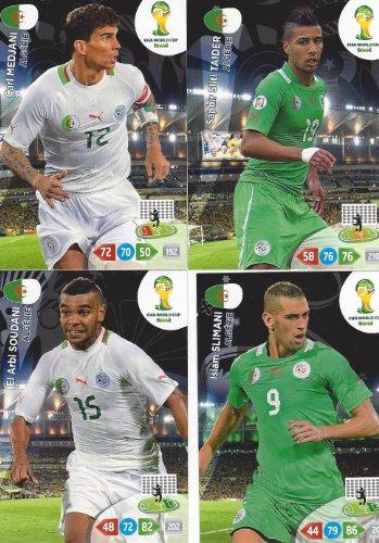 FIFA World Cup 2014 Brazil Adrenalyn XL Algeria (Algerie) Base Card Team Set by Adrenalyn XL -