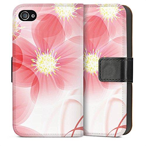 Apple iPhone 5 Housse Étui Silicone Coque Protection Fleur Fleur Fleur Sideflip Sac
