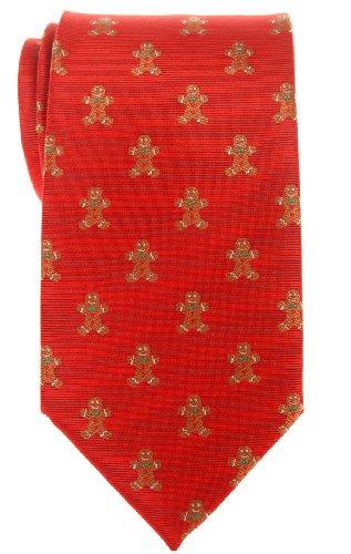 Retreez Navidad hombre de jengibre Woven microfibra Hombre Corbata-Varios Colores Rojo rosso Talla única