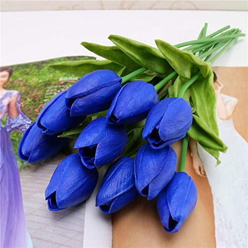 nulala Künstliche Blumen, 10pcs Künstliche Tulpen Blumen Gefälschte Tulpen Blumen Hochzeit Bouquets für Hausgarten Party Blumendekor