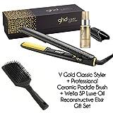 Set exclusivo V Gold Classic Styler de ghd, plancha y bolsa de viaje