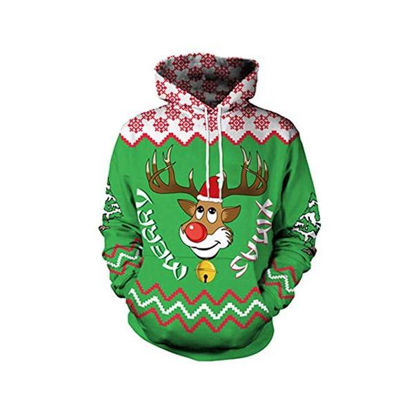 YWLINK Damen Sweatshirt Unisex Strickpullover Rudolph Rentier Pullover Weihnachten Drucken
