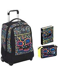 46b87adb71 Zaino Scuola Big Trolley Seven Yub Svalvolati 34 lt + Diario Scuola Pocket Seven  nero giallo