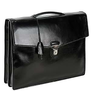 Serviette, Sacoche cartable sac porte documents TODAY BUSINESS Sac à main homme en cuir noir The Bridge 061040/01/20