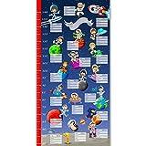 murando - Messlatte 50x100 cm Wachstumsmesser mit Astronaut für Jungen - Kindermesslatte - Meßlatte Kosmos - Kinderzimmer n-A-0182-c-a