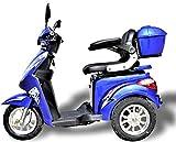 1000 W eScooter Elektromobil 3 Rad eScooter Seniorenfahrzeug Seniorenmobil Elektrostuhl ECO Engel 501 (Blau)
