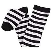 thematys Calze da Donna al Ginocchio in 3 Diversi Modelli - Calzini Retro Stripe Design per Ragazze e Donne (Style 2)