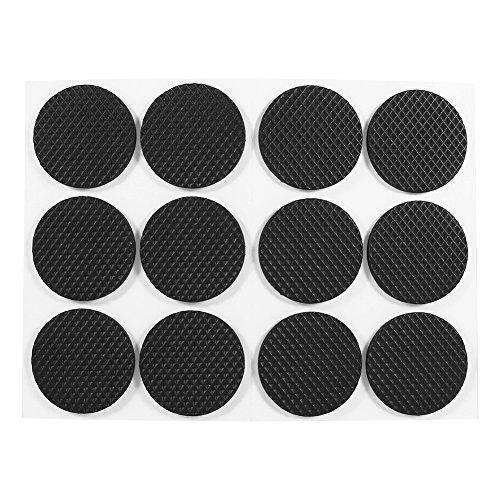 GLOGLOW 12 Rutschfeste Selbstklebende Pads runden unteren Bodenschutz Silent Feet Cover für Möbel Tisch Stuhl (Silent Feet-anti-vibration)