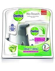 Dettol Distributeur Automatique de Savon No Touch Kit Effet Inox 250 ml