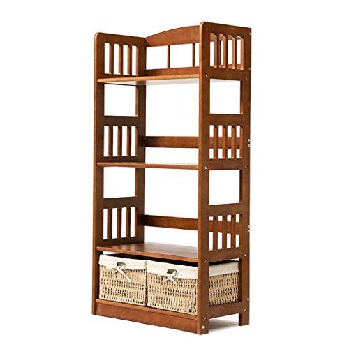 BSNOWF Bücherregal Massivholz-Honig Zuckerfarbe Standing Simple Multifunktions-Wohnzimmer Arbeitszimmer Schlafzimmer ( größe : 4-tier ) (Bücherregal Honig)