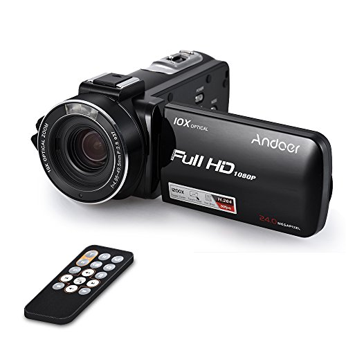 Andoer hdv-z82 1080p full hd 24mp videocamera digitale con 3