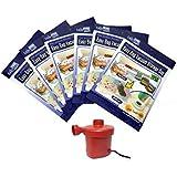 Easy Bag Vacuum Silicone Space Saver Bags with Electric Pump - 2 Small 45x65cm, 2 Medium 60x90cm, 2 Large90x86cm(Transparent,EBCWP003)- Set of 6