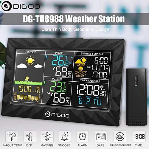Destock Digoo DG-TH8988 - Estación meteorológica para Interior y Exterior, higrómetro, termómetro...