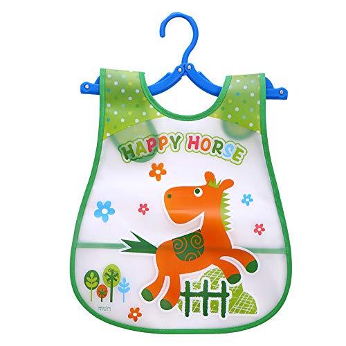 shovv Einstellbare Baby Lätzchen Kunststoff wasserdicht Mittagessen Fütterung Lätzchen Baby Cartoon Fütterung Tuch Kinder Baby Schürze
