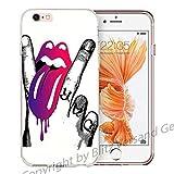 Blitz LIPS Schutz Hülle Transparent TPU Cartoon Zunge & Finger M1 Huawei P8 LITE