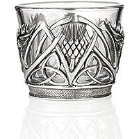 2 x Glas Keltisches Kreuz Teelicht Kerzenhalter Teelichtglas Teelicht Irisch Segen Keltischer Knoten 6cm Geschenk