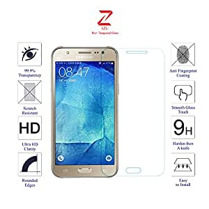 Samsung Galaxy J5 Glass Screen Protector Tempered Glass-Pack of 1 , IZU® Pro Tempered Glass Ballistics Glass, 99% Touch-screen Accurate, Anti-Scratch, Anti-Fingerprint, Round Edge [0.3mm] Ultra-clear - Retail Packaging