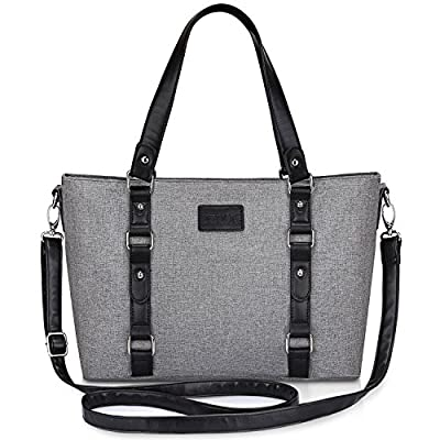 S-ZONE Women's Ladies Shoulder Handbags Lightweight Large Capacity Tote Casual Work Shopping Fashionable Top-Handle Bag
