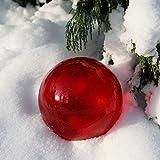Gärtner Pötschke Glaskugel Weihnachtsglanz, rot 15 cm