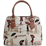 Signare Womens Ladies Tapestry Fashion Handbag Across Body Bag (Convertible) Miss London