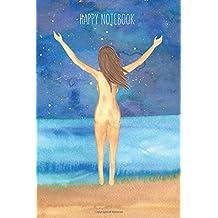 Happy Mini Notebook: Beach: Cuaderno ilustrado para colorear