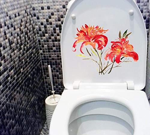 Zhangsanlisi 22 X 16.8 Cm Aceite De Cártamo Brillante Acuarela Clásico Pegatina De Baño Decoración De La Pared De La Sala De Estar En Casa 2 Piezas